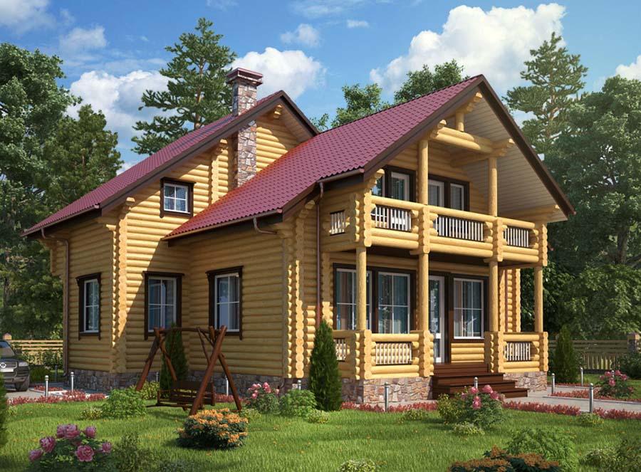 Дом из бревна 1