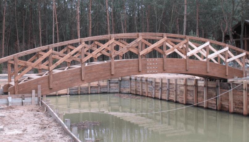 Мост из гнутых балок