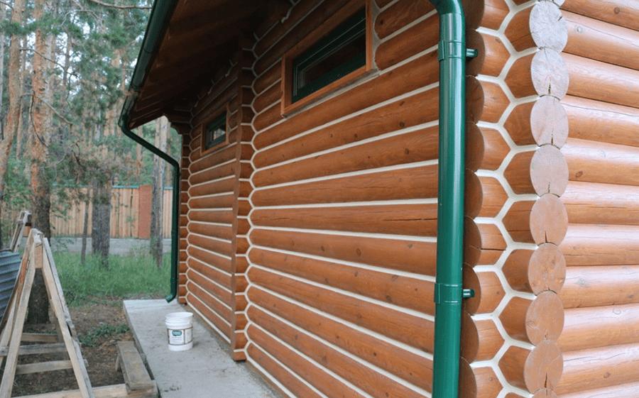 Заделка швов в оцилиндрованном доме
